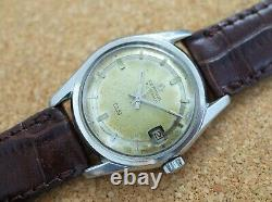 Vintage mens Certina DS automatic all steel screw case signed crown rare model