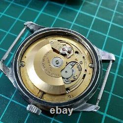 Vintage mens Invicta World Time Compressor case rot. Bezel day date all original