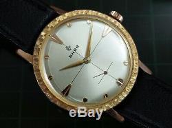Vintage mens Rado De Luxe manual wind silver dial all original classic serviced