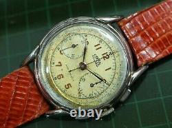 Vintage mens Symbol manual wind chronograph fancy lugs all original serviced