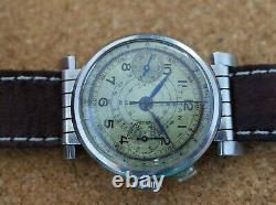 Vintage mens Titan chronograph manual wind swivel lugs all steel staybrite rare