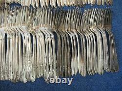 Vtg Lot 200 Silverplate SALAD FORKS Table Quality All Dups Some Polished NoMonos